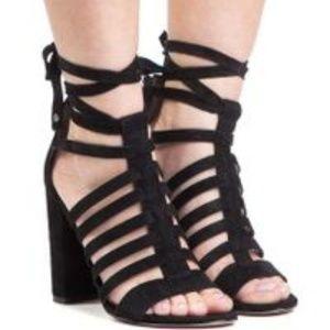 Sam Edelman Women's Black Yarina Suede Sandals